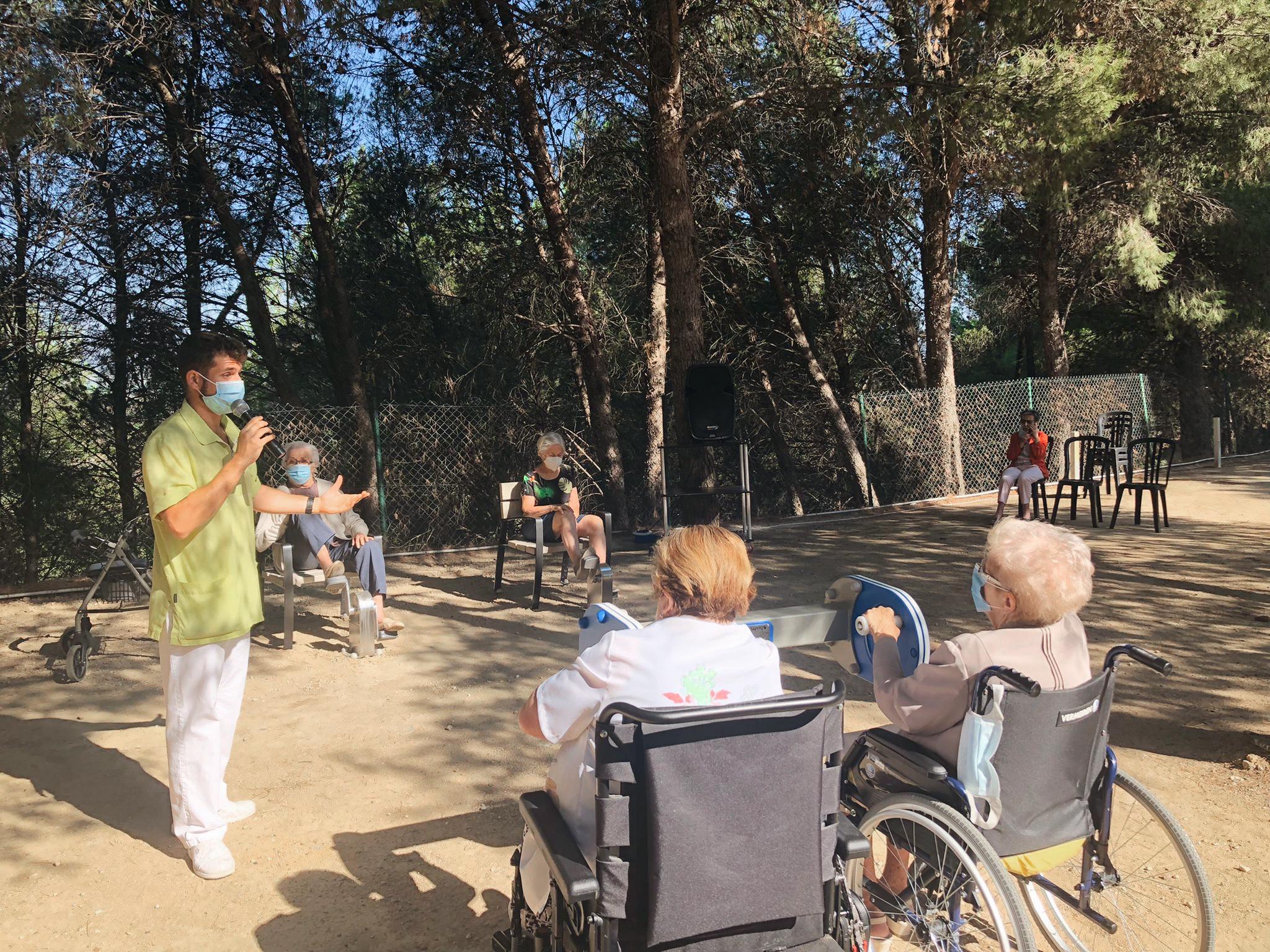Parque para mayores en residencias